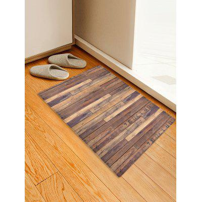 Wooden Printed Water Absorption Area Rug