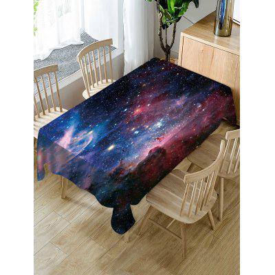 Galaxy Print Fabric Waterproof Tablecloth
