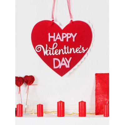 Happy Valentine's Day Heart Door Decor Hanging Sign