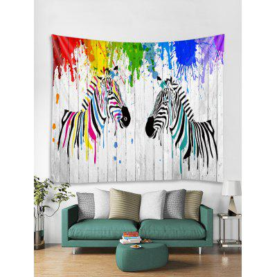 Zebra Splash Printed Tapestry Art Decoration