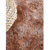 Faux Fur Solid Water Absorption Area Rug - CAMEL BROWN