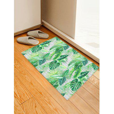Palm Leaf Pattern Water Absorption Area Rug
