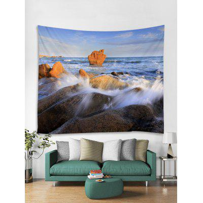 Seaside Rock Print Tapestry Wall Hanging Art Decoration