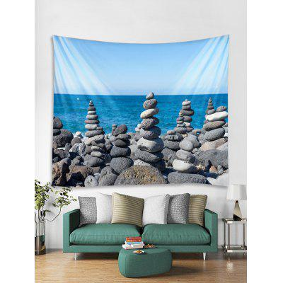 Seaside Stones Tower Print Tapestry Wall Hanging Art Decor