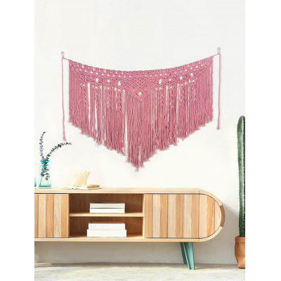 Tassel Design Knitted Wall Hanging