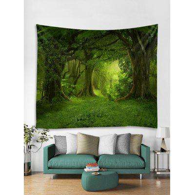 3D Forest Tapestry Art Decoration