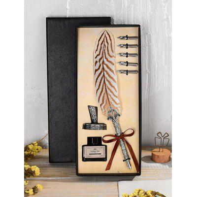 Unique Feather Pen Gift Set