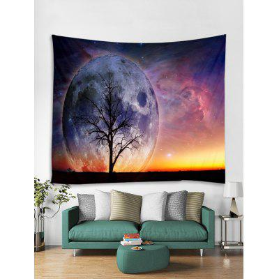 Starry Sky Tree Stampa Tapestry Art Decoration