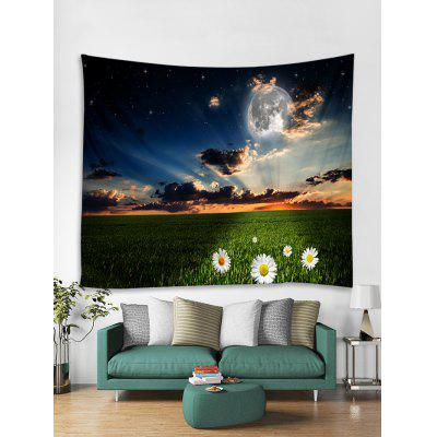 Sunset Flower Printed Tapestry Art Decoration