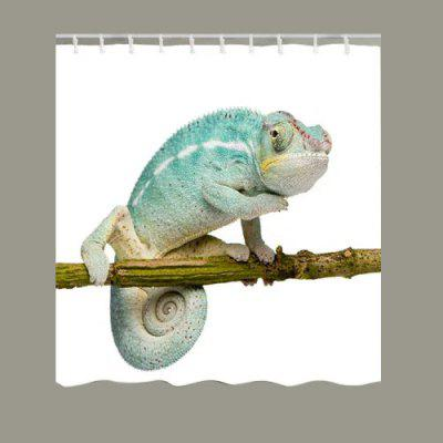 Chameleon Stand on the Tree Print Shower Curtain