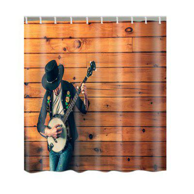 Guitar Boy Print Shower Curtain