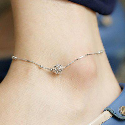 Stylish Hollowed Ball Anklet