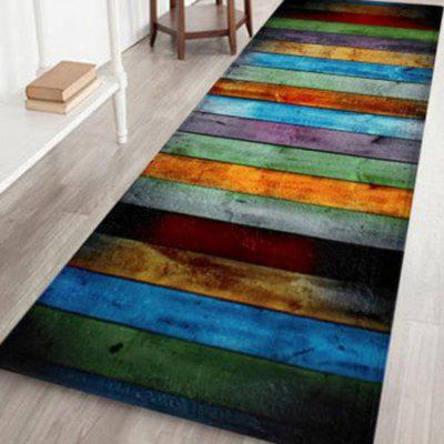 Colorful Stripe Antislip Velvet Area Rug