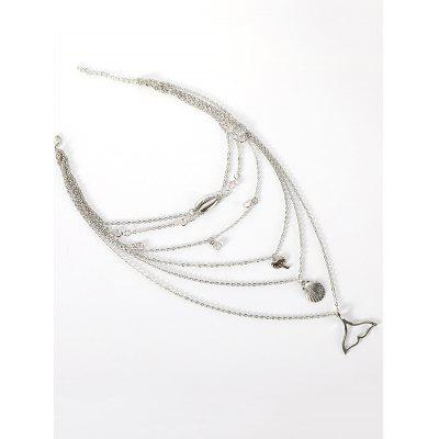 Collier Multi-Couches Coquille de Mer Coquille