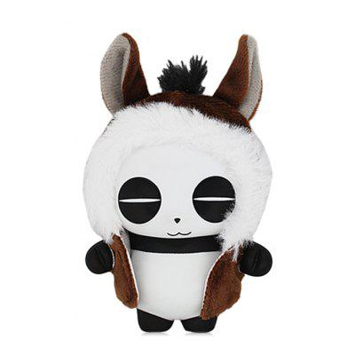 Panda Toy In Cartoon Horse forma mantello