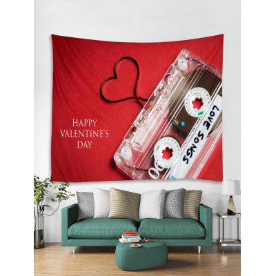 Valentine Magnetic Tape Print Removable Wall Tapestry