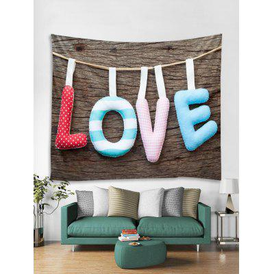 Valentines Day LOVE Pattern Tapestry Wall Hanging Art Decoration