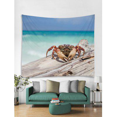 Beach Crab Print Tapestry Wall Hanging Art Decoration