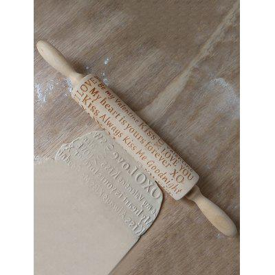 Letter Design Wooden Rolling Pin