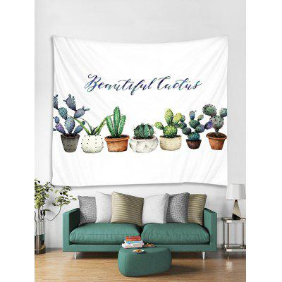 Potted Cactus Print Tapestry Wall Hanging Art Decoration
