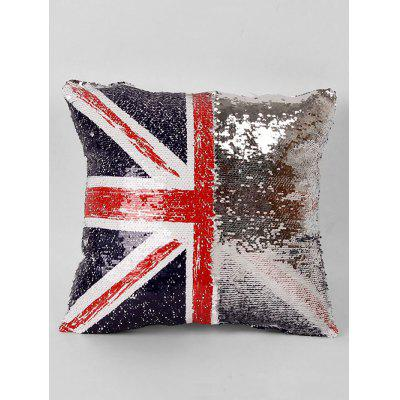 American Flag Pattern Decorative Sequin Pillowcase