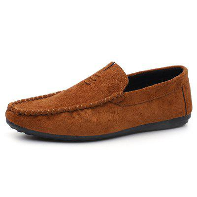 Slip On Faux Suede Mocassin Shoes