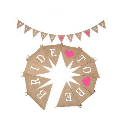 BRIDE TO BE Pattern Wedding Decoration Party Flag Banner