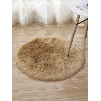 Faux Fur Round Area Rug