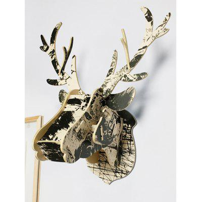 Deer Head Wood Assembly Wall Decoration