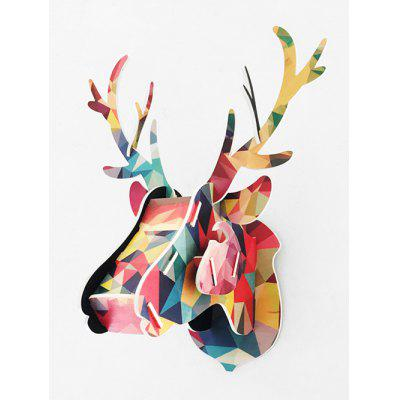 Wood Deer Head Assembly Wall Decoration