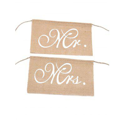 Letter Design Chair Linen Wedding Decoration