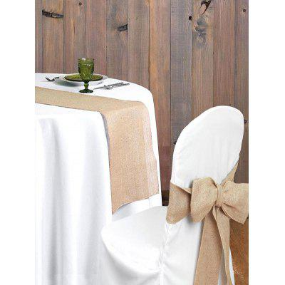 Wedding Decoration Hessian Chair Cover