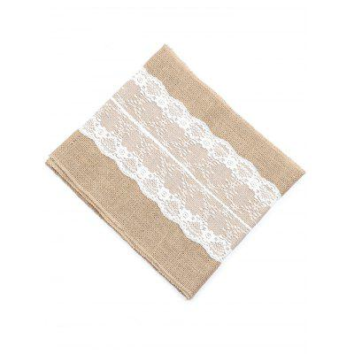 Flower Pattern Jute Lace Tablecloth