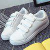 Leisure PU Leather e Letter Pattern Design Athletic Shoes para mulheres - BRANCO