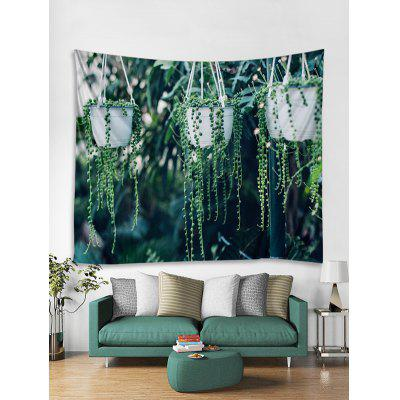 Potted Plant Print Tapestry Wall Hanging Art Decoration