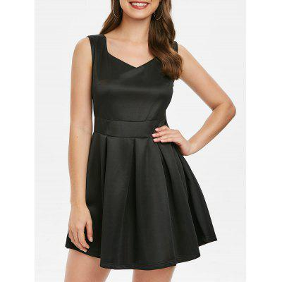 Sweetheart Neck Mini Fit and Flare Dress