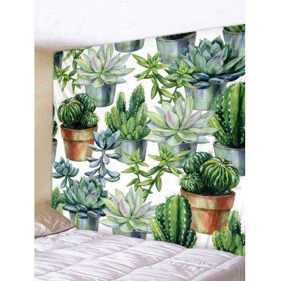 Cactus Potted Plant Print Tapestry Wall Art