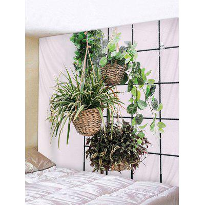 Chlorophytum Potted Plant Print Wall Decor Tapestry