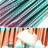 Ombre Mermaid Eye Facial Makeup Brushes 15PCS - PINKISH BLUE
