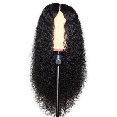 Center Parting Synthetic Long Curly Wig
