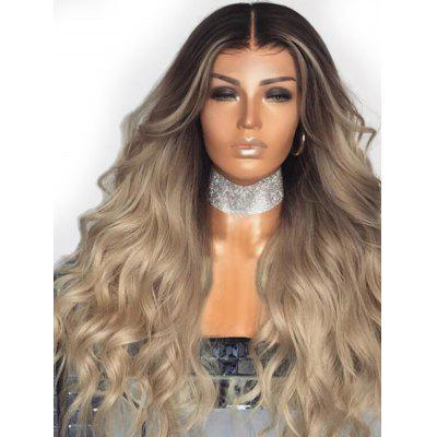 Middle Part Gradient Long Wavy Synthetic Wig