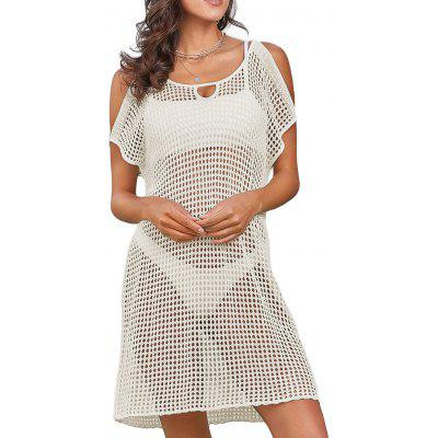 Ombro a frio Openwork Cover Up Dress
