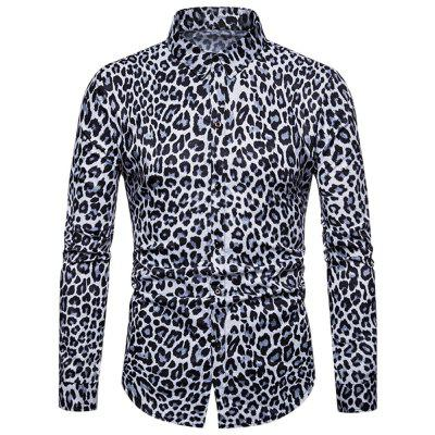 Leopard Print Casual Long Sleeves Shirt