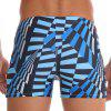 Geometric Print Drawstring Swimming Trunks - MULTI-V