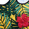 3D Tropical Plant Printed Tank Top - BRIGHT YELLOW