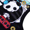 Cartoon Panda Printed Tank Top - BLACK