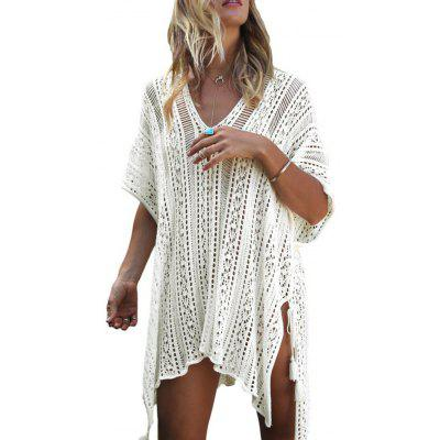 Tassels Crochet See Through Cover Up