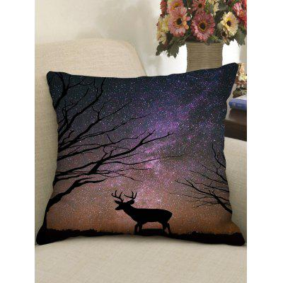 Print Deer Starry Sky Star Pillow Case