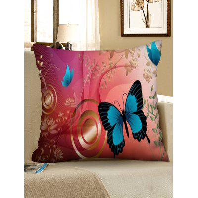 Printed Butterfly Square Sofa Pillowcase