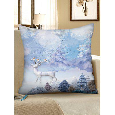 Elk in Forest Square Throw Pillow Case